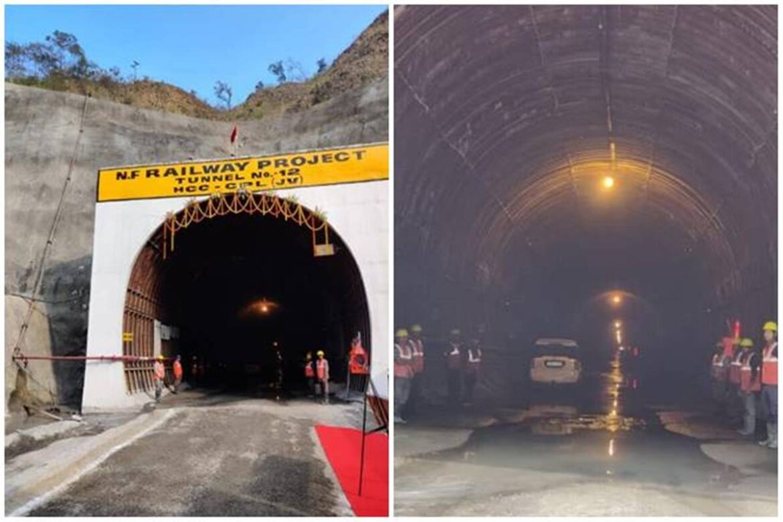 Imphal-Jiribam Railway: Only 1 tunnel left