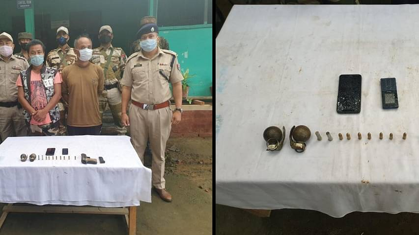 Manipur Police and Assam Rifles arrested 2 cadres of the KCP