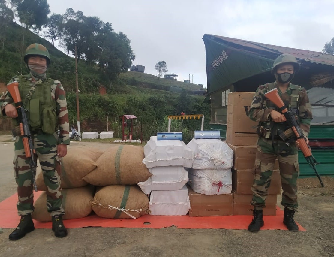 Assam Rifles seizes smuggled goods from Manipur