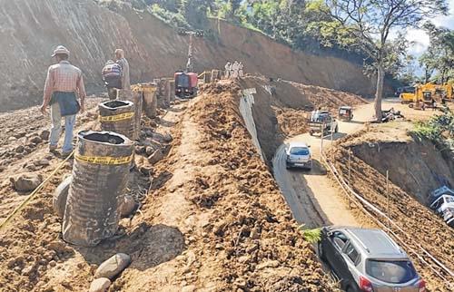 UPDATED: Traffic in National Highway-2 restored after landslides in Manipur