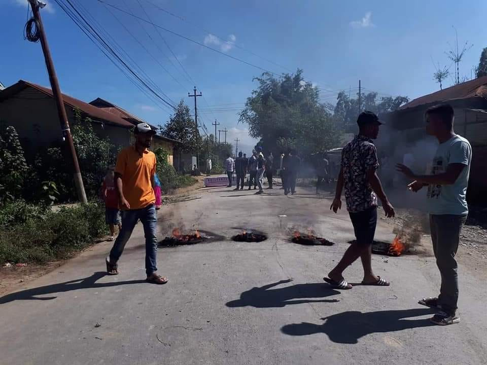 Violent protest by Muslim students in Manipur. Normalcy disrupted in State.
