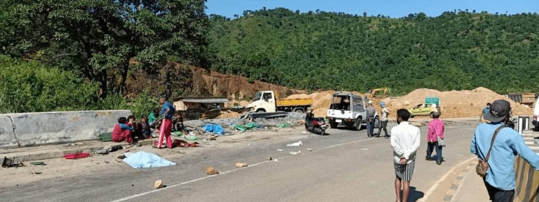 Tragic Shillong Bye-pass accident : Truck runs over 5 roadside vendors