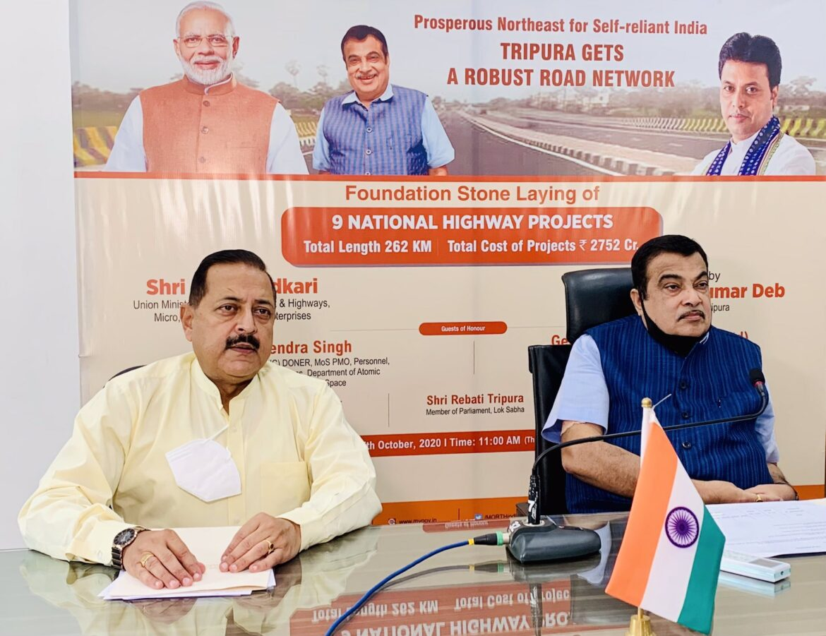Act East Policy: Union Minister Gadkari launched 9 NH projects worth 2752 Cr in Tripura