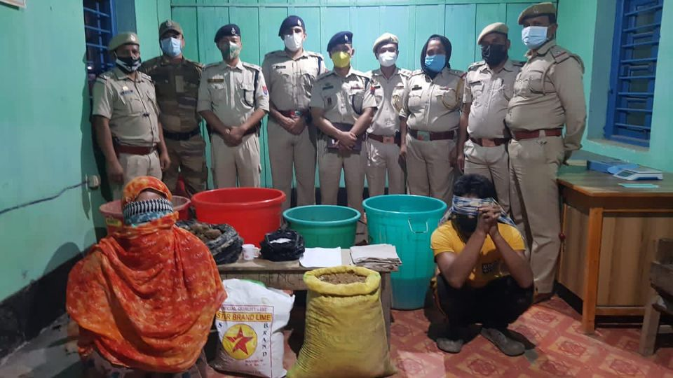 Police busted an illegal Drug Factory in Manipur