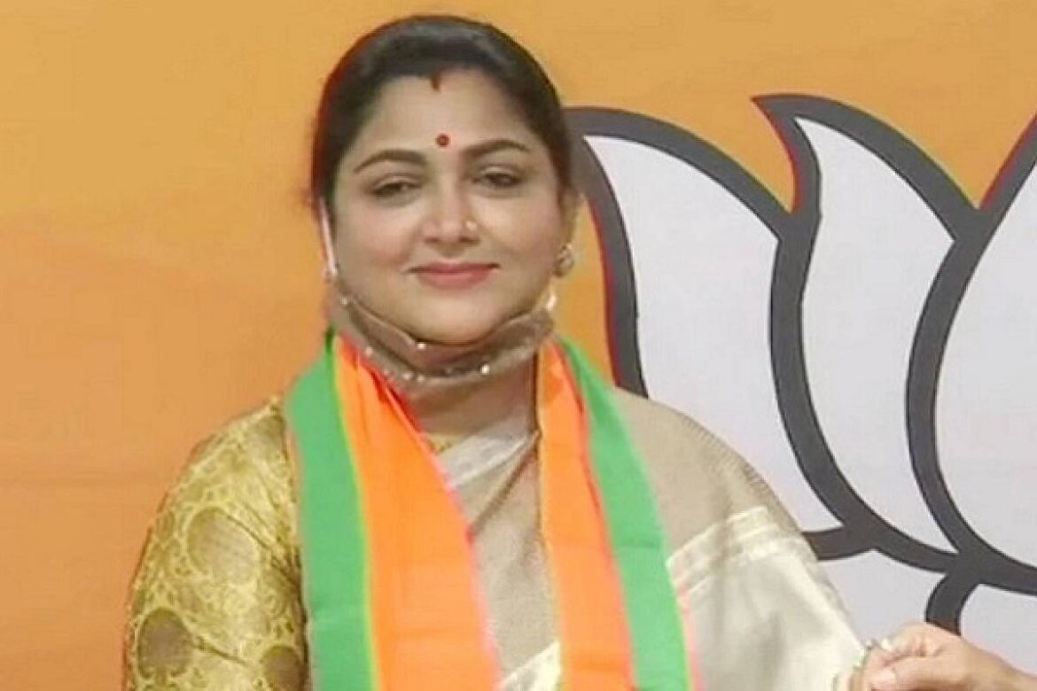 Tamil actor Khushboo Leaves Congress to join BJP