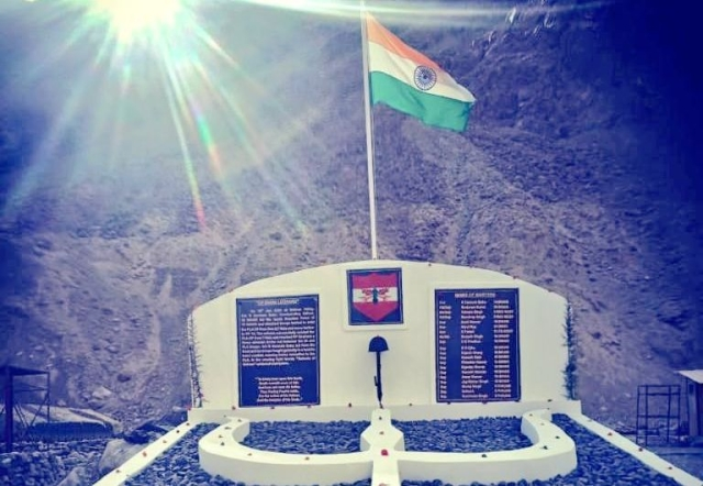 Indian Army Builds a Memorial for 20 Soldiers who lost their Lives in Galwan Valley Clash With China