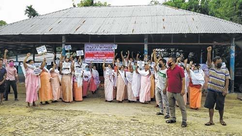 Protest demanding justice for the September 11 killing of Moirangthem Nilamani in Bishnupur district of Manipur