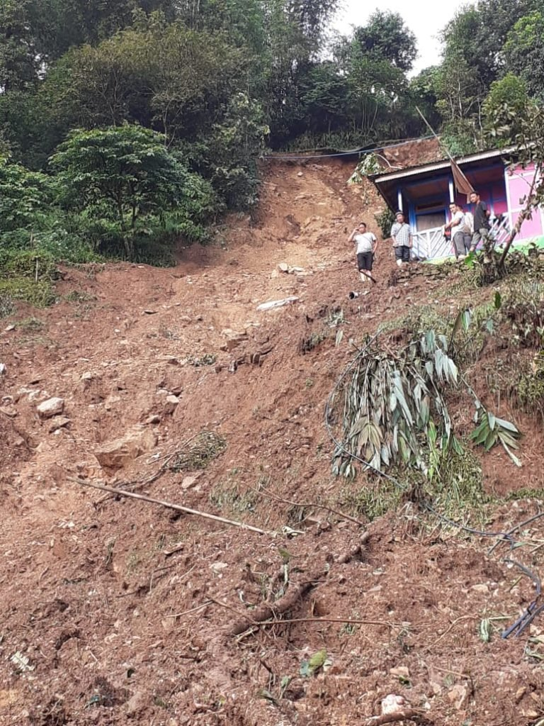 Sikkim landslide: 2 houses swept away