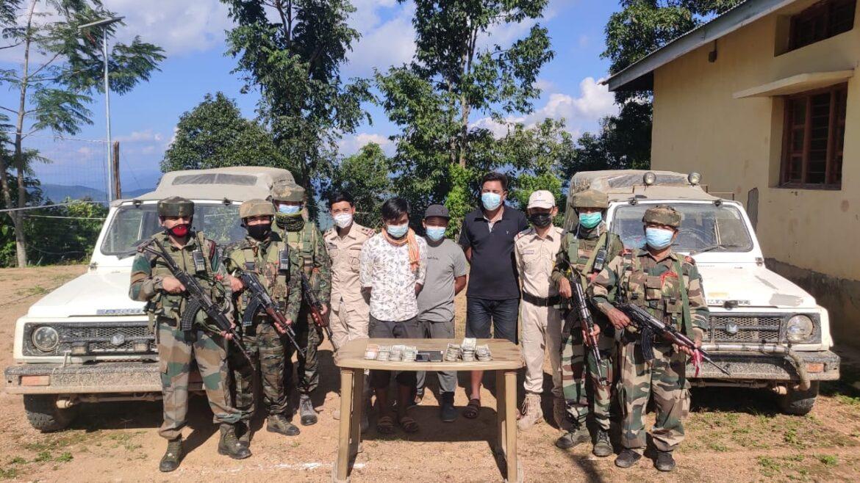 Assam Rifles seized unaccounted Cash in Manipur