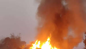 4 children died in a major fire at Kangpokpi district in Manipur