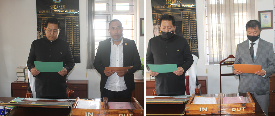 Newly elected MLAs of Nagaland Legislative Assembly took oath of office