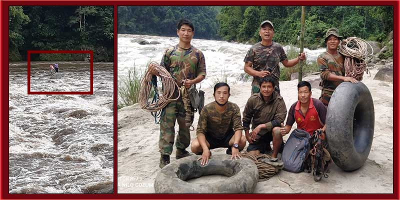 Indian Army rescued 2 women in Arunachal Pradesh from drowning in Siyom River