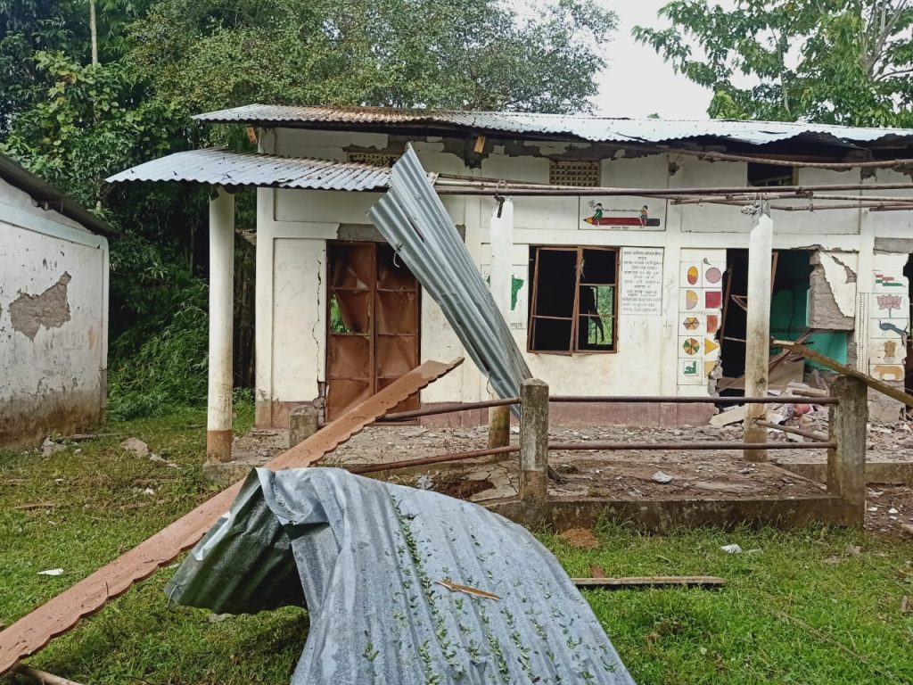 Assam-Mizoram Border Dispute : Assam school bombed for the second time
