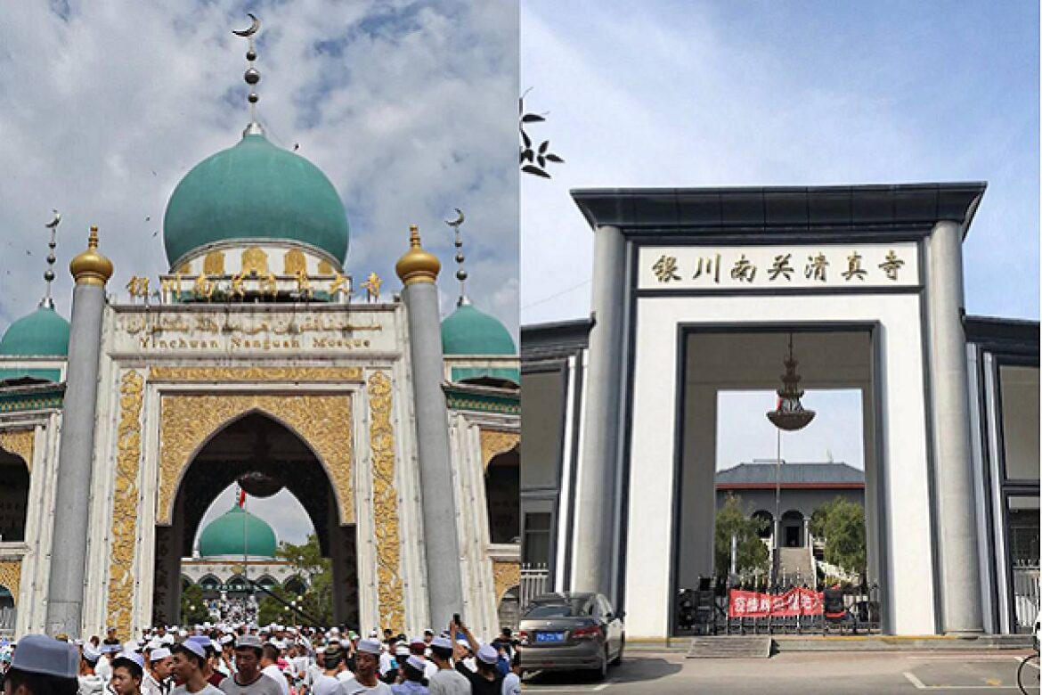 China removing Arab style domes, Islamic decorations and Arabic scripts from mosques