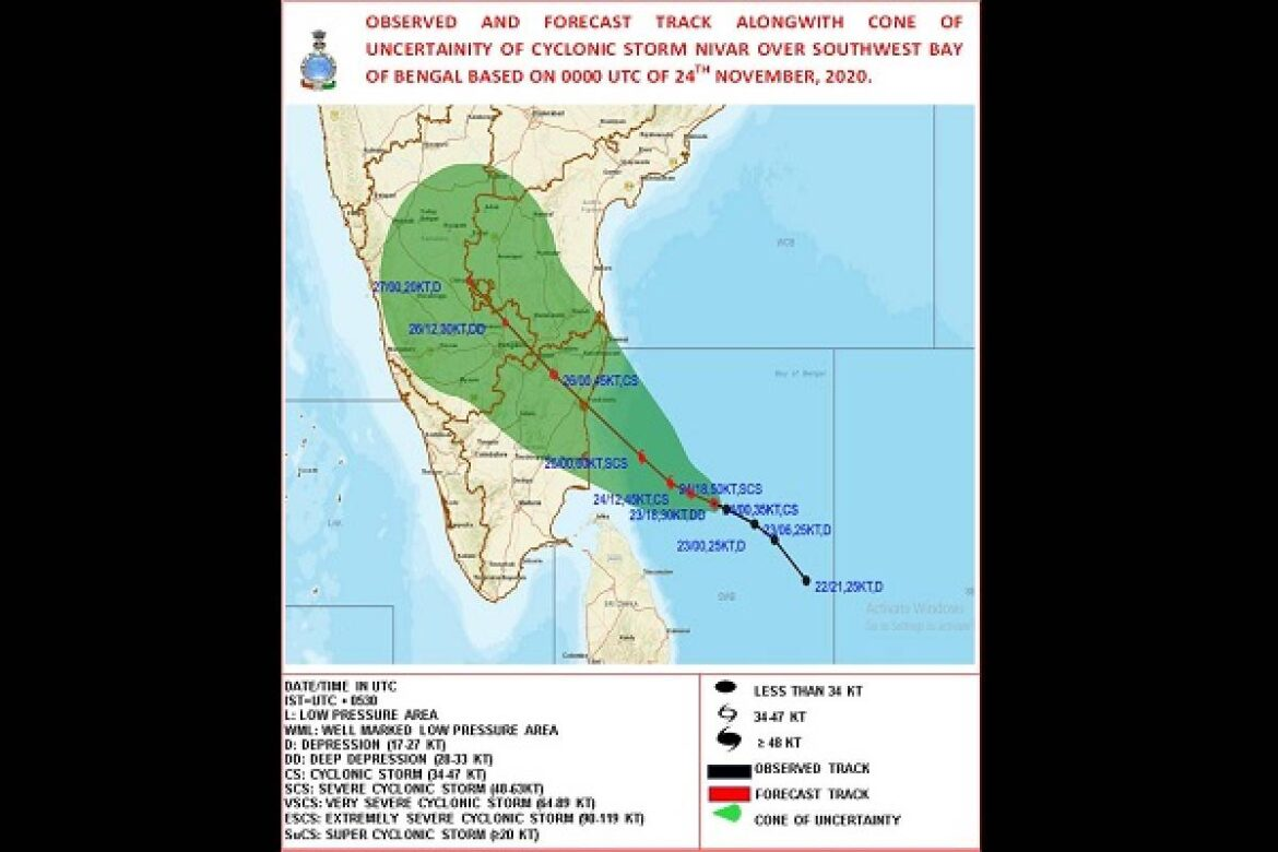 Cyclone Nivar Crosses Tamil Nadu and Puducherry Coast Late Night-Early Morning; Trees Uprooted, Power Supply Affected