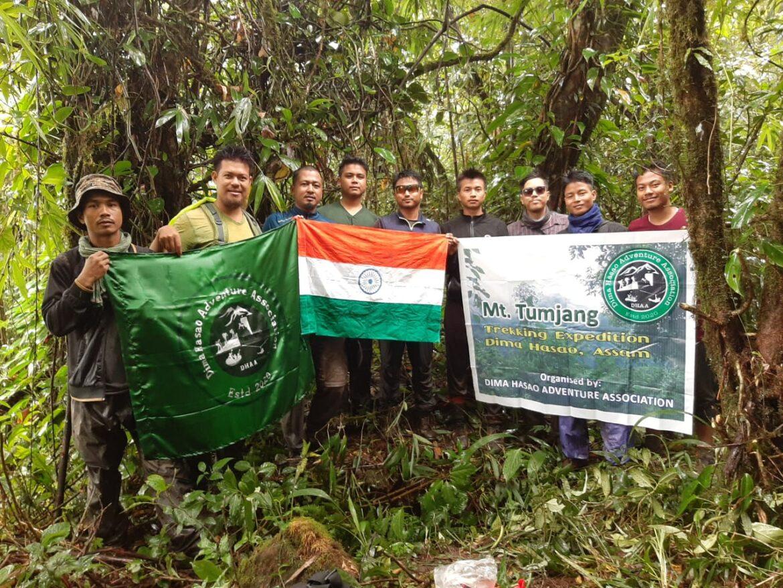 Dimasa youths scaled Assam's highest peak Mt Tumjang