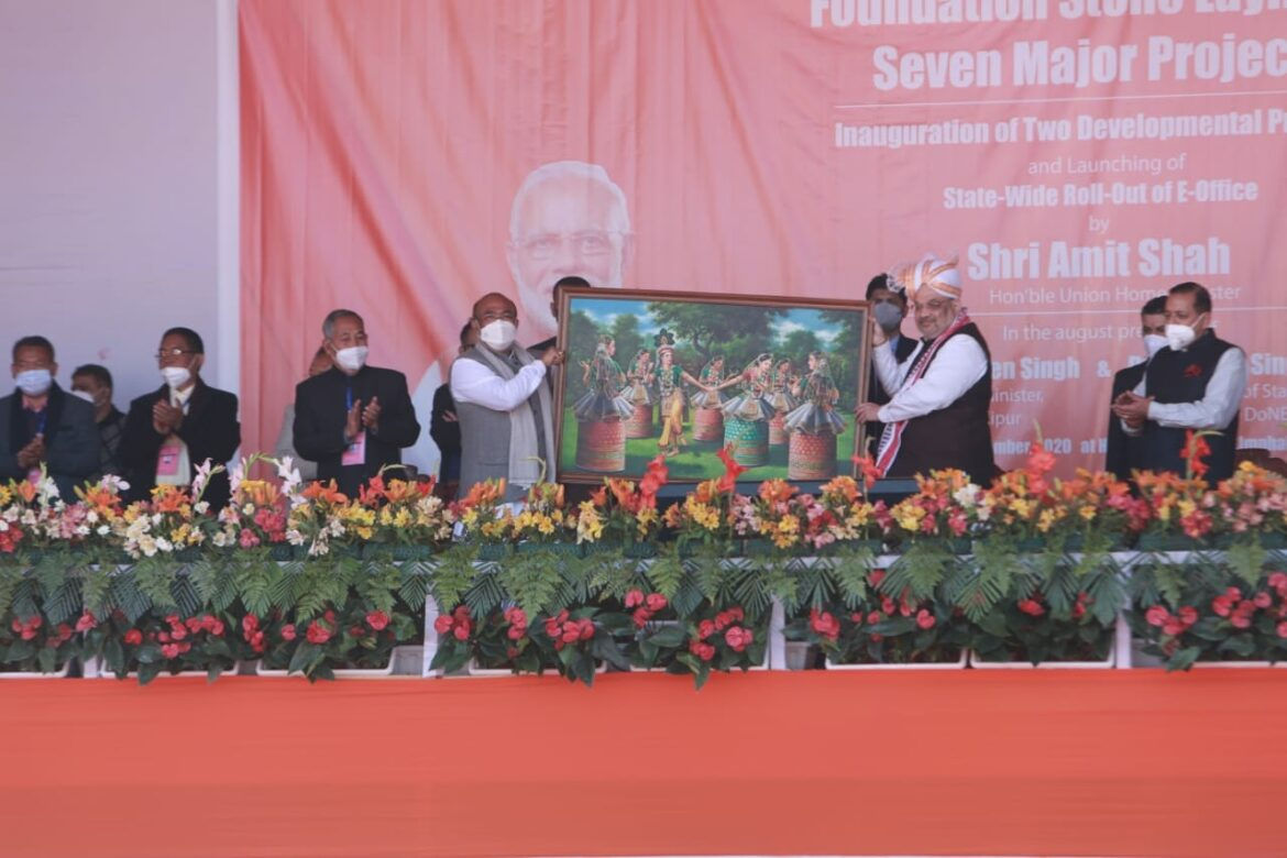 Union Home Minister Amit Shah meets Manipur CSOs before winding up the trip