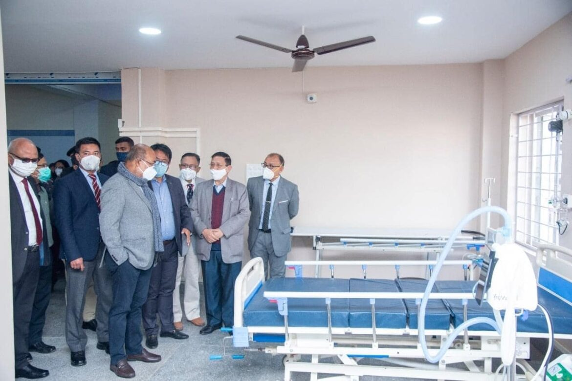 Manipur CM launched 100 bedded COVID block at JNIMS Hospital