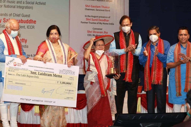 Manipuri singer Laishram Mema honoured with Sangeet Sadhana Award