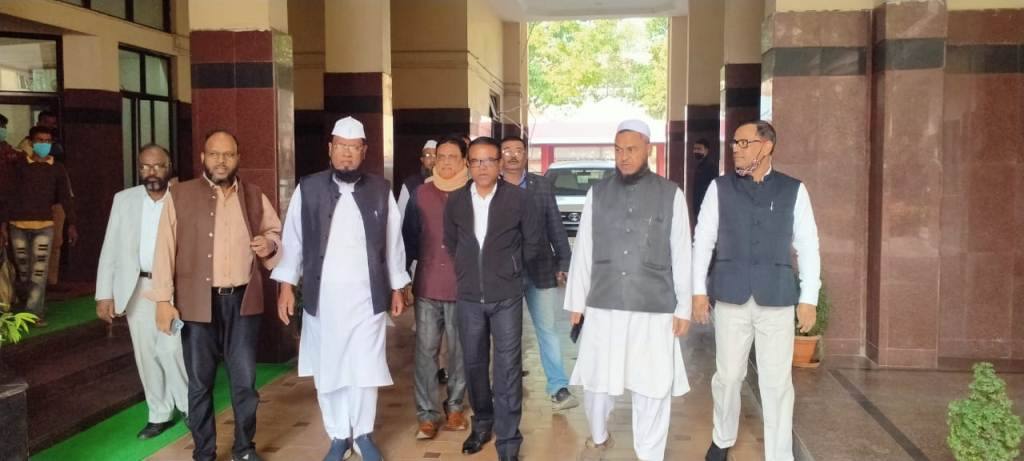 Badruddin Ajmal led AIUDF complains against Himanta Biswa and Pijush Hazarika