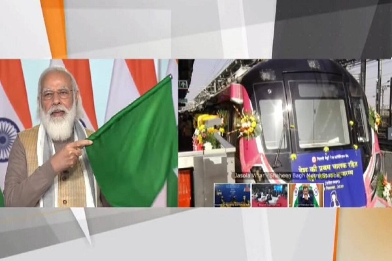 PM Modi Flags Off India's First Driverless Metro in Delhi