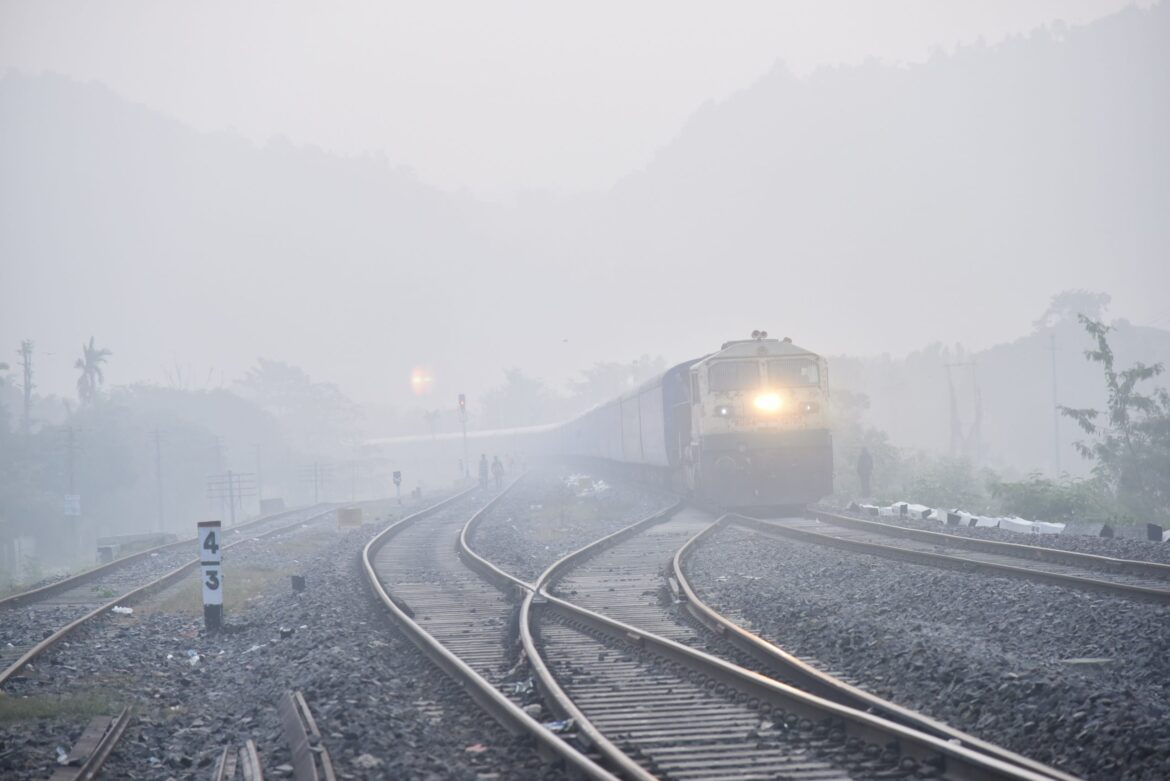 NFR cancels long distance trains due to fog. North India bound trains hit