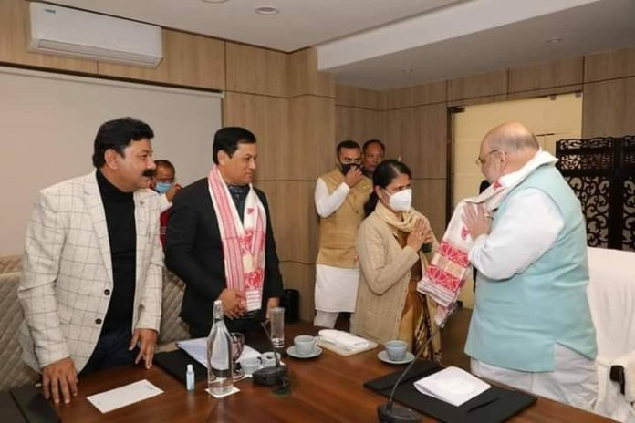 Former Congress MLA Ajanta Neog set to join BJP soon. Meets Union HM Amit Shah