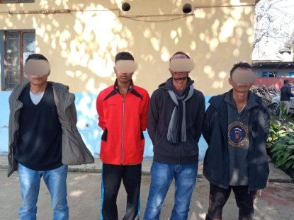 Dimapur Police arrest 4 persons suspected to be NSCN-IM cadres for attempt to hijack car
