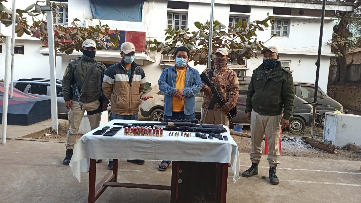 Massive manhunt after KNO cadre killed at Moreh. 2 arrested with arms and ammunition