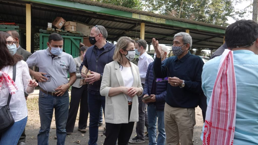 Visiting French Minister Barbara Pompili visited Kaziranga National Park