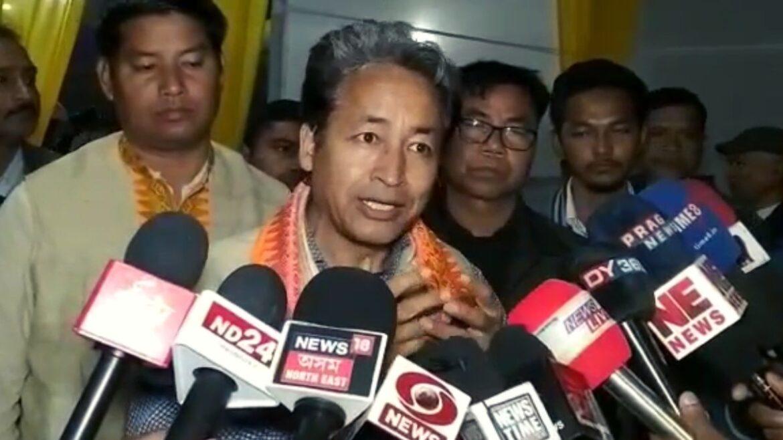 Assam: Innovator Sonam Wangchuk visits Bodoland Terriorial Region