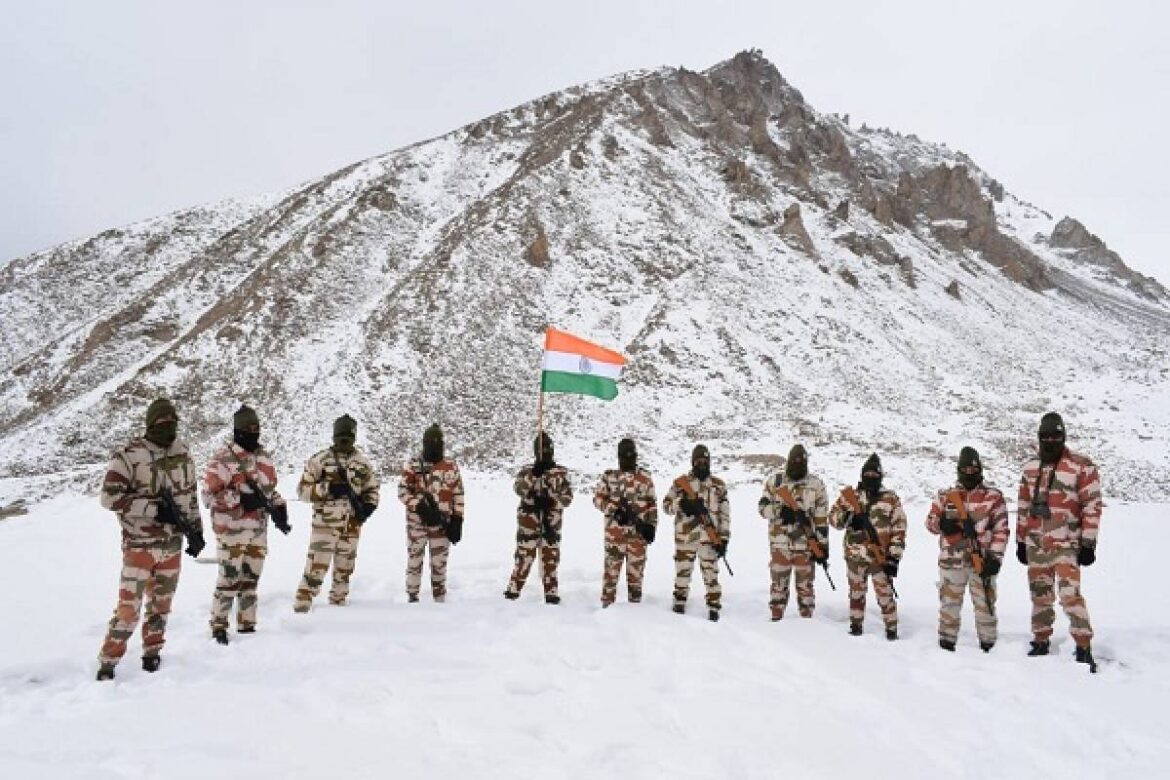 ITBP Jawans Celebrate Republic Day At High-Altitude Border Outpost In Ladakh