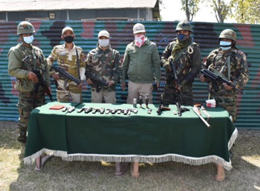 Manipur: Security Forces recovers huge cache of arms and ammunition from Thoubal district