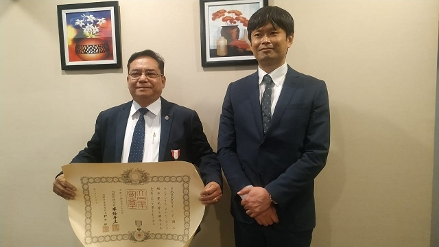 Dr Thangjam Dhabali Singh from Manipur Receives Japan's Highest Honour