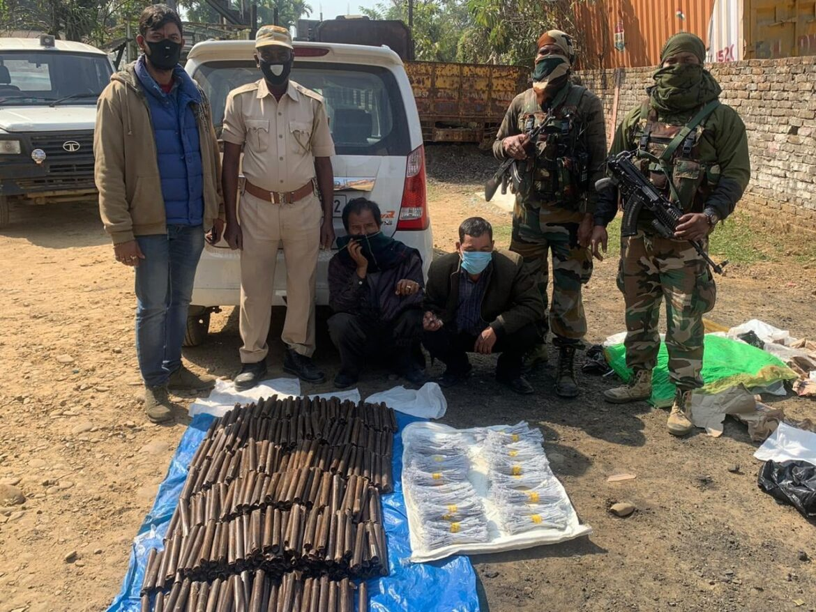 Security forces recover huge cache of explosives from Assam-Meghalaya border
