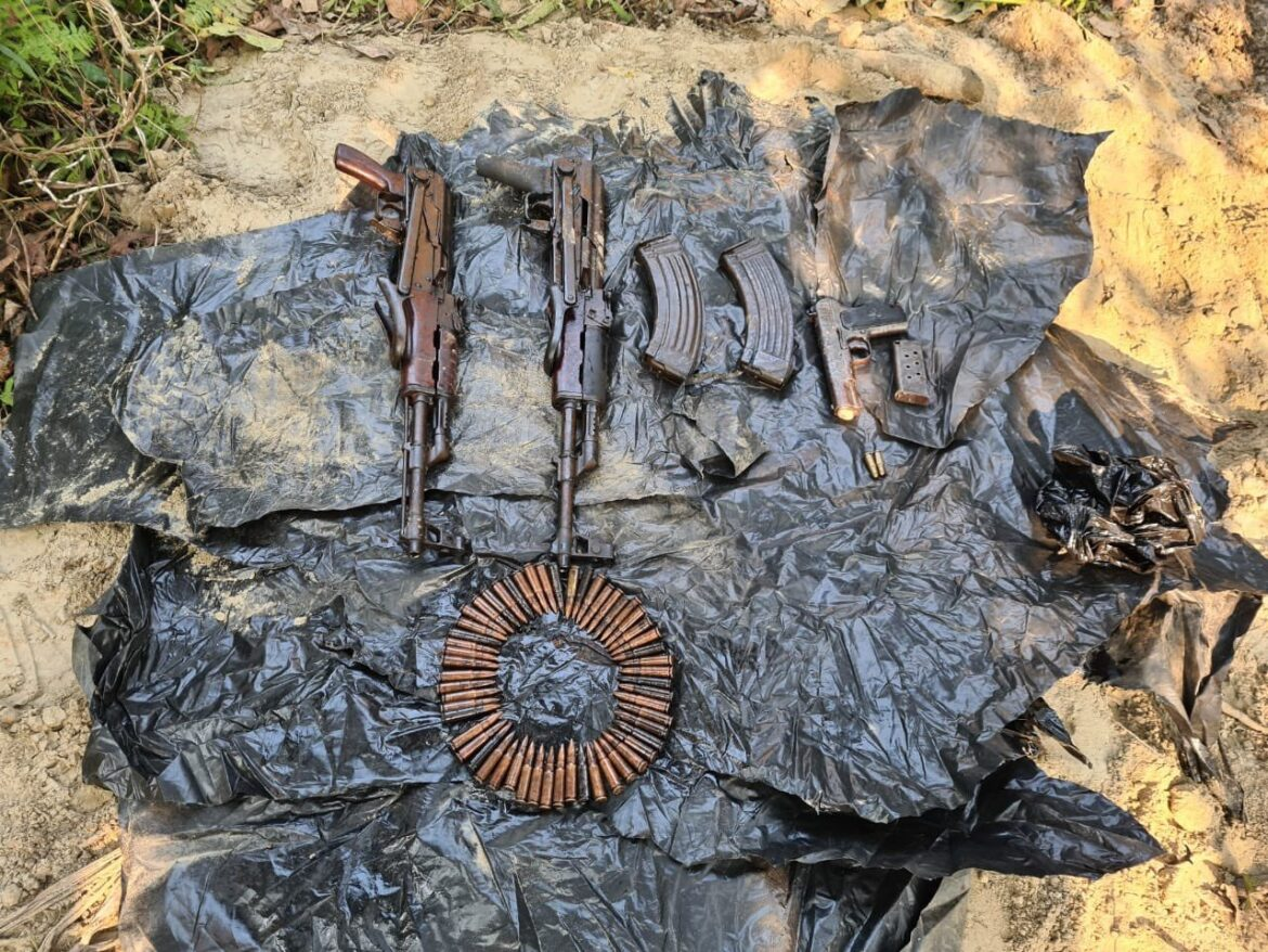 Assam: Arms and ammunition recovered in Chirang