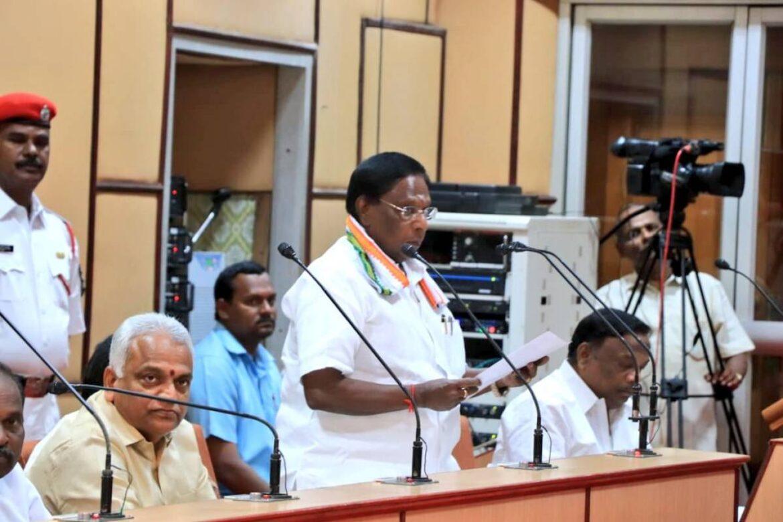 Congress Led Puducherry Govt Falls Ahead Of Trust Vote, CM Narayanasamy Resigns