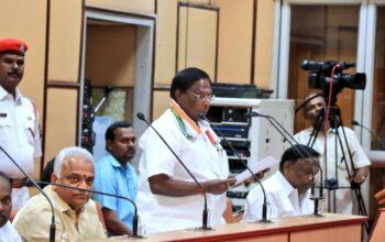 congress led puducherry govt falls ahead of trust vote cm narayanasamy resigns