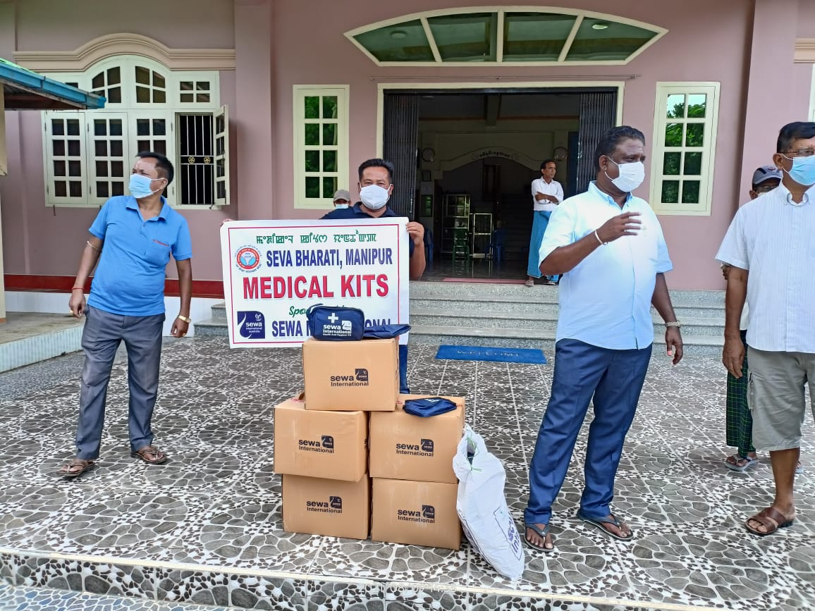 COVID Response Team of Seva Bharati Manipur extends support to Tamu hospital in Myanmar