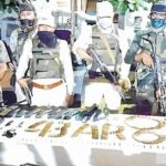 huge cache of arms ammos seized