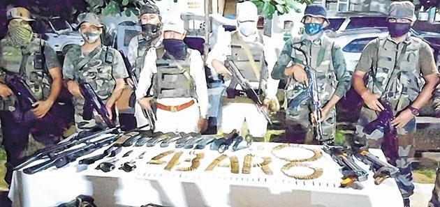 Huge cache of arms and ammunition in Manipur